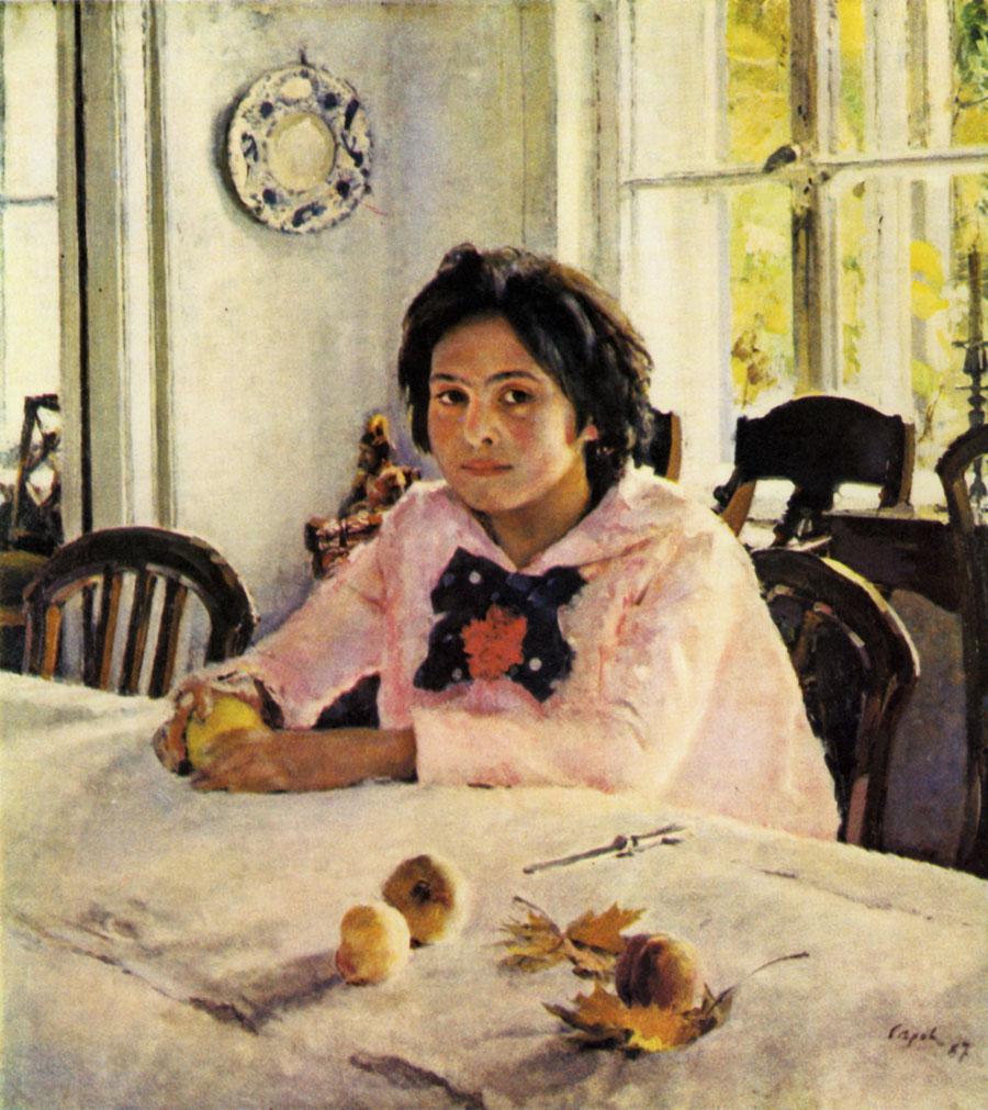 Серов, девочка с персиками