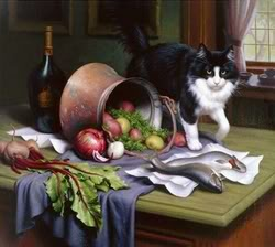 Натюрморт с котом